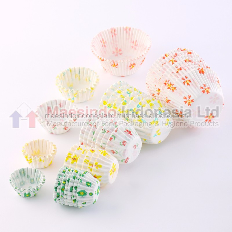 Super Easy Slipped Floral Greaseproof Paper Baking Cup / Cake Cup