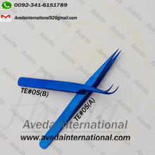 Light Staraight & Curved Eyelash Extension Tweezers / Best Titanium Eyelash Extension Tweezers Light Weight Titanium Tweezers