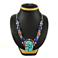 Splendorous multi gemstone necklace indian 925 sterling silver jewelry wholesale necklaces online