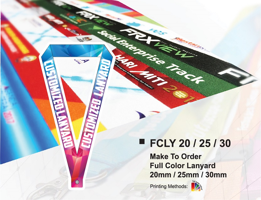 Customized High Quality Heat Transfer Full Color Lanyard