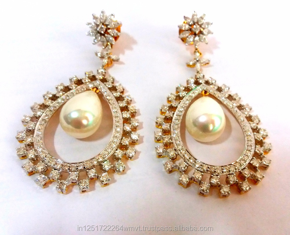 High quality Detatchable 14kt long earring danglers