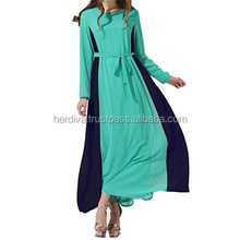 Zamrud jubah Islamic Abaya Dr jubah Plus Size Islamic Abaya Dress Skirt Top Women Long Dress Baju Kurung Malaysia Pleated Crepe