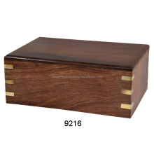 Exported funeral supply wholesale cheap solid wood cremation urns - 9216