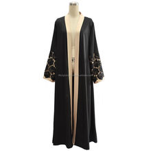 2017 New Design Abaya Muslim Women With Open Black Colour Abaya