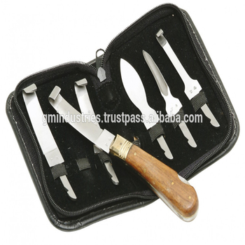 Animal Hoof 6 Knives Set Veterinary Surgical Equipments Instruments