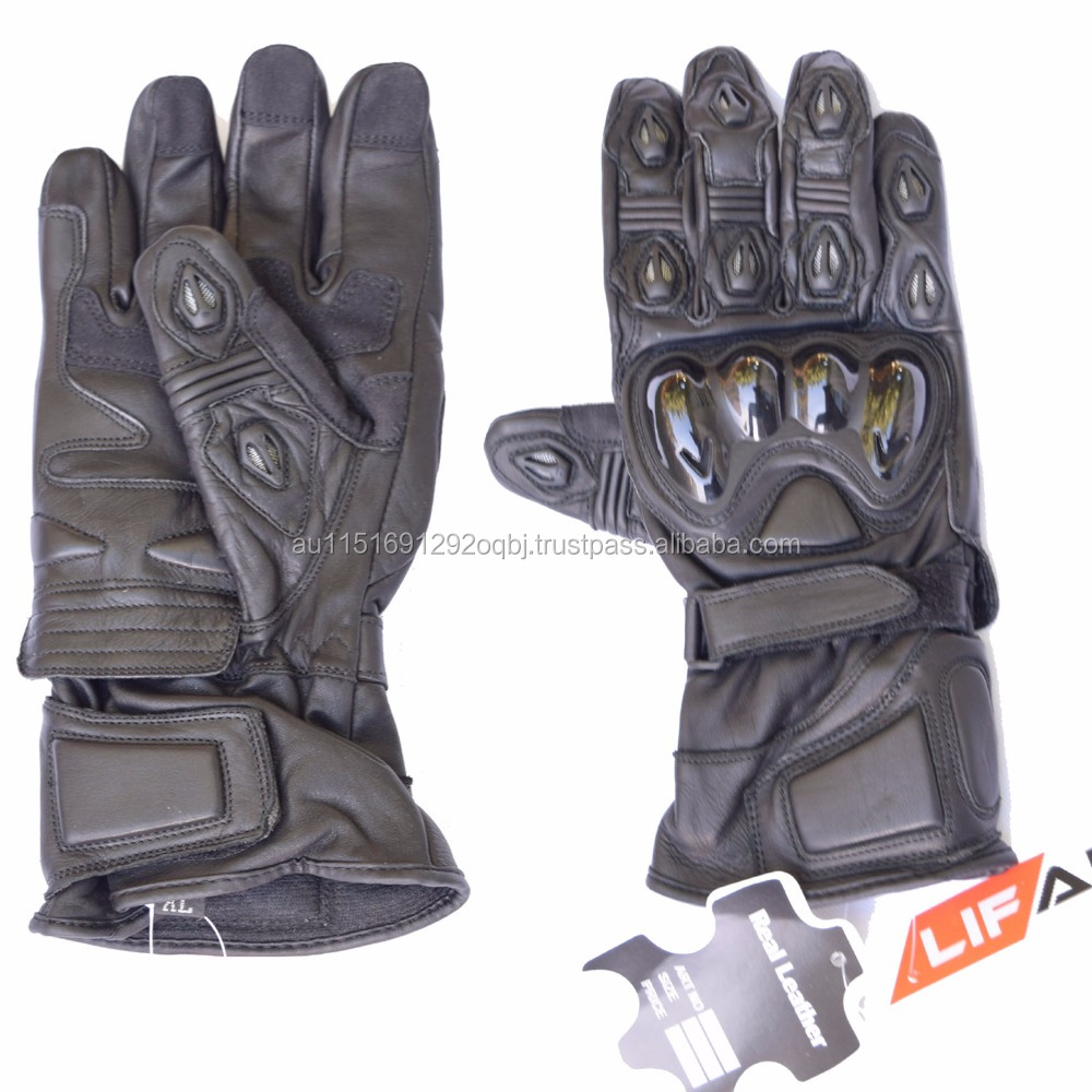 MOTORCYCLE LEATHER GLOVES, BIKE PROTECTION RIDING SAFETY