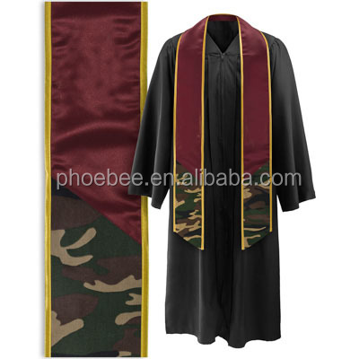 Hot Sell Graduation Stole with Camouflage trimmed stoles