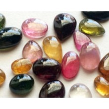 AA quality Multi Tourmaline smooth cabochon