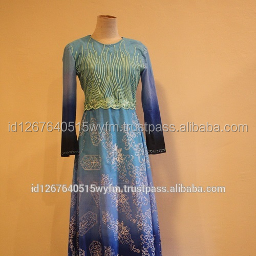 Latest Design Stamped Batik Dress Shield Mangrove