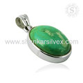 Magnificent look turquoise gemstone pendant 925 sterling silver pendants wholesale jewelry supplier