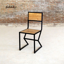 High Quality Recycled Teak Dining Chair with Metal iron cast Frame Furniture
