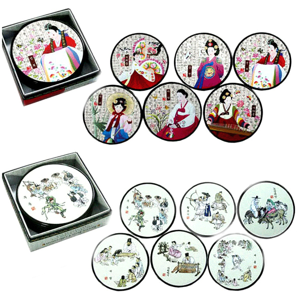 Korean Traditional Folk Coasters / Korea made souvenirs
