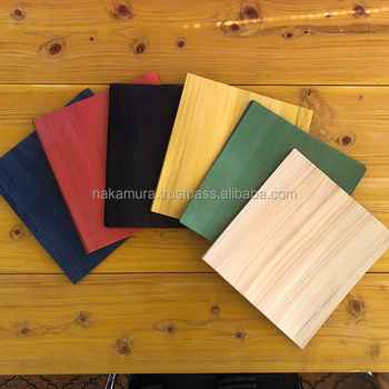 Fashionable Dyed Hinoki Wood Veneer Made In Japan, various colors available