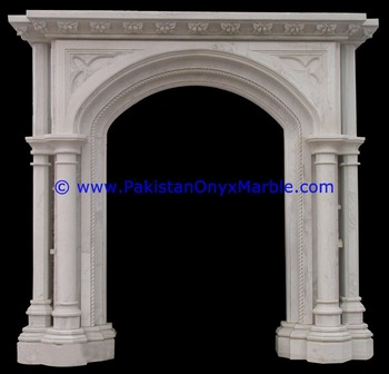 LUXURIOUS DECORATIVE MARBLE FIREPLACES RED,ZIARAT WHITE