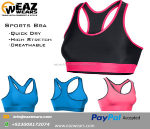 Low MOQ Wholesale Fitness Clothing Custom Sports Bra for Active Wear Yoga Bra