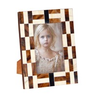 5x7 picture frame wood and resin handcrafted for wedding and home