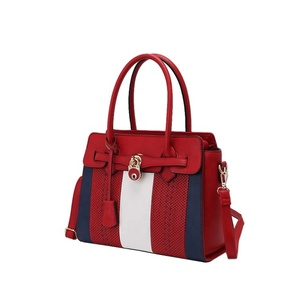 2019 new European and American fashion red Bride wedding tote bag ladies  leather shoulder bag 64e473843562b