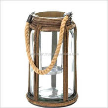 round antique rope handle lantern