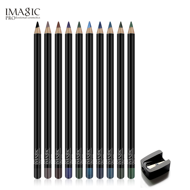 Imagic eyeliner waterproof pencil wholesale 12 colors eye liner pencil high pigment eyeliner pencil