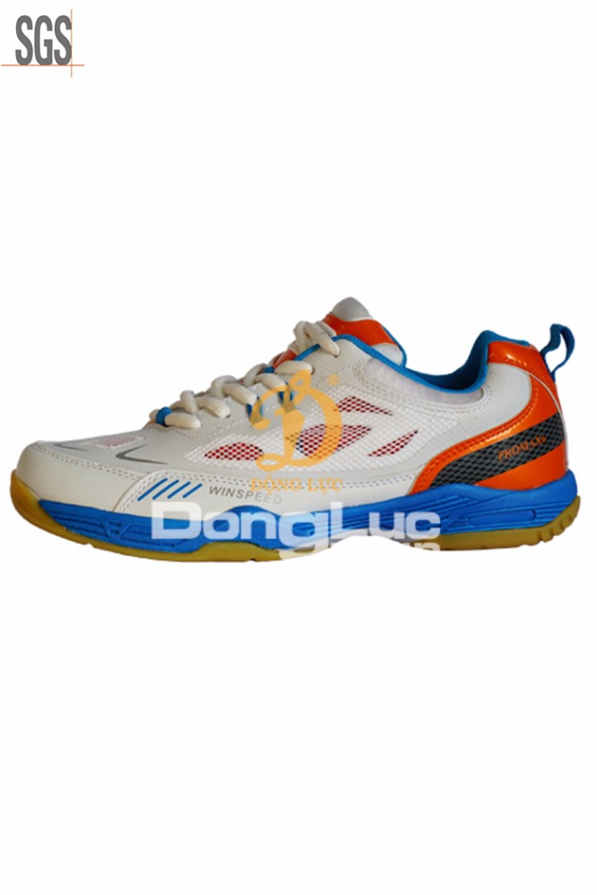Fancy man shoe design from best supplier in Vietnam, new badminton shoe item, strong sports shoe