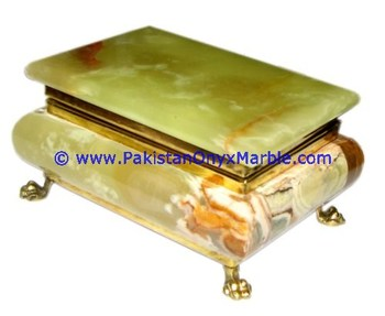 wholesaler supplier of onyx jewelry boxes rectangle multi green