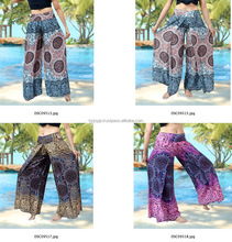 VTG HIPPIE BOHO dashiki madala harem wide leg gypsy yoga belly dance art fisherman skirt maxi Wrap pants