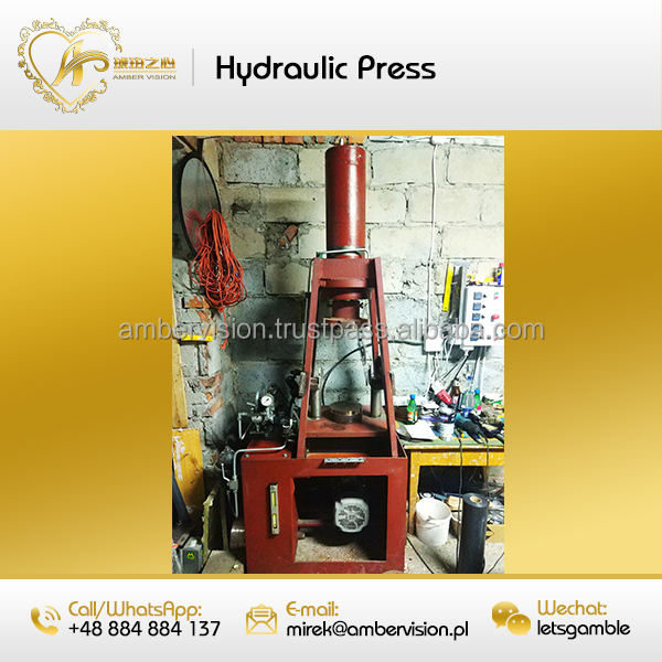 Like New Pressed Press Heat Hydraulic Amber Factory Machine with 18 forms