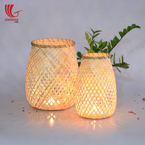 Vietnam weaving bamboo lantern wholsale/ bamboo candle holder