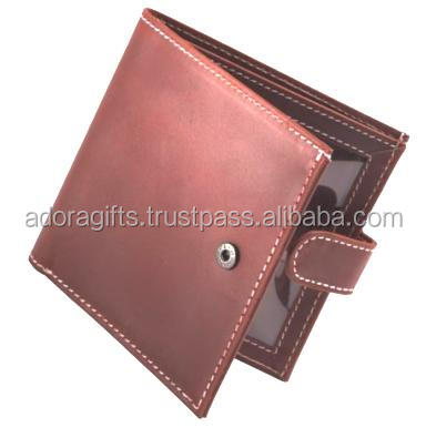 Brown Stylish Mens Wallet With RFID Blocking In Best Wholesale Rate