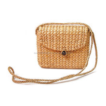 Small Water Hyacinth Crossbody Purse Woman Straw Spring Summer Bag