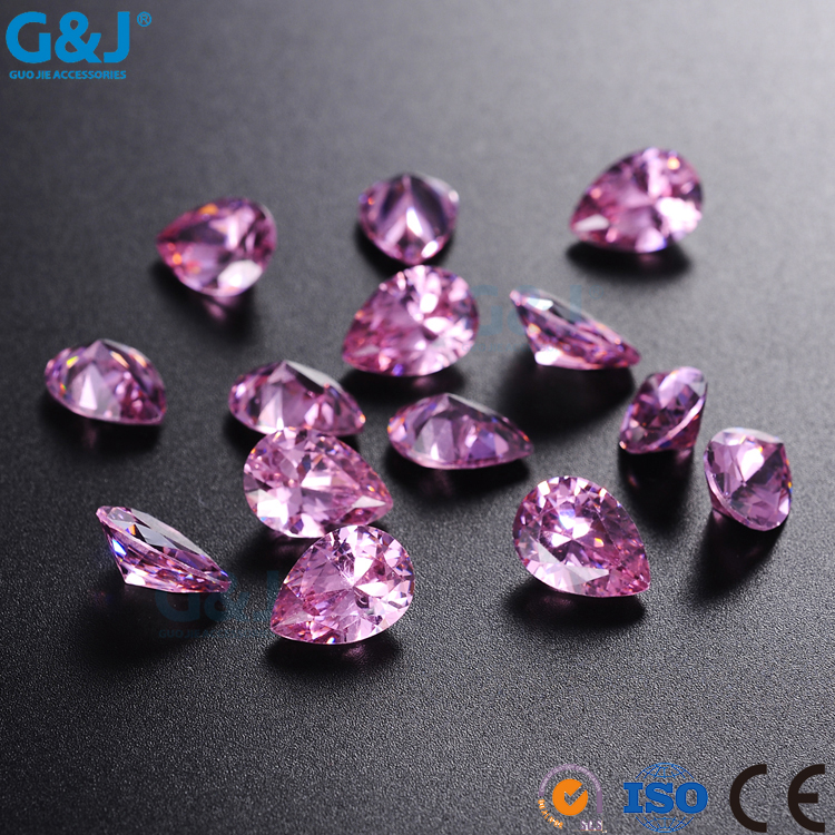 guojie brand wholesale colorful heart shape factory hand craft crystal zirconia