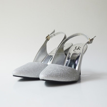 Wholesale High Heel Ladies Shoes Gray Color Design Women Heels