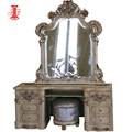 Turkish Style Mahogany Cariving Hardaware Mirrored Dresser for Bedroom Furniture