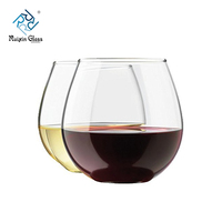Top grade 16oz steel stemless wine glasses custom double wall beer glass cup for wedding