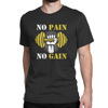 [Custom Designed] Gym Quotes - No Pain No Gain - Men's Black T-shirt