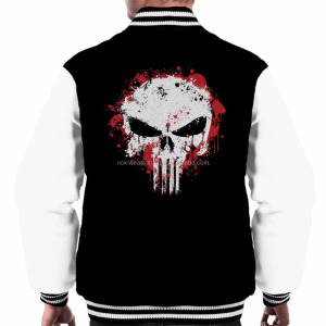 black and white with skull printed varsity jackets /custom varsity jackets/NWSJ-1040/AT NOKI
