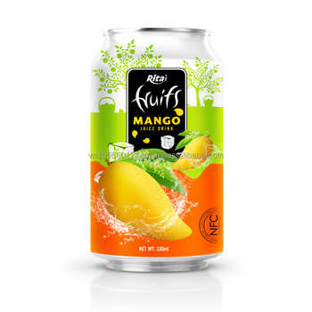 OEM Vietnam Beverage Drink 330ml Short Canned Mango Fruit Juice