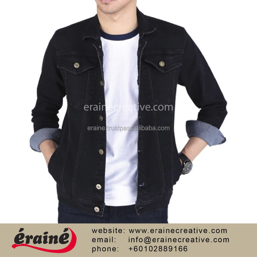 Custom made denim casual jacket