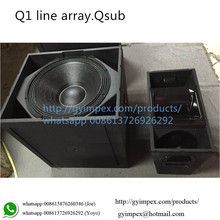 Q-Series Q sub 18 bass ,dual 10'' line array Q1 loudspeaker