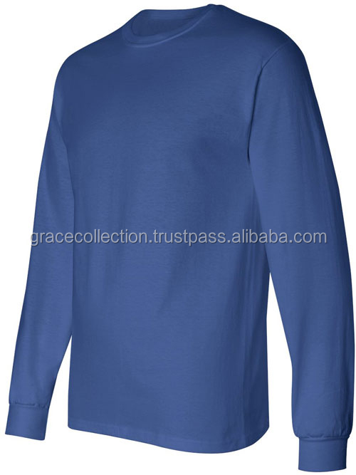Full Sleeves Round neck T-shirt Ribbed Collar and Arms