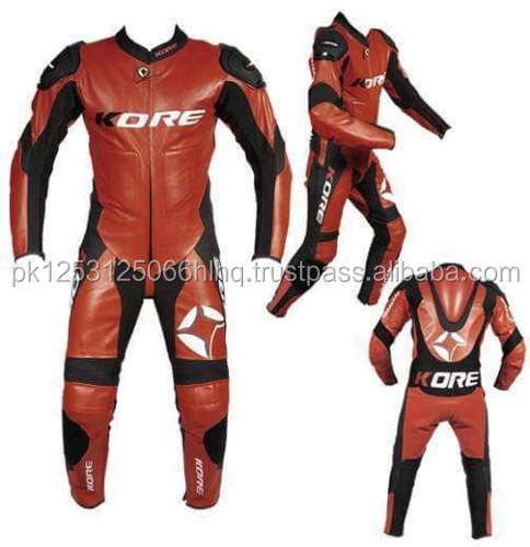 Men Women Kid Leather Motorbike suits
