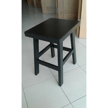 Malaysia Timber Solid Nyatoh Stool C/W Rubber Stud To All Legs