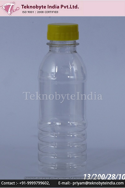 Plastic bottle 200 ml for JUICE/LASSI & multipurpose uses made from 100% virgin pet preform