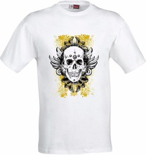 FEATHERED SUGAR SKULL DESIGN RETRO GOTHIC FULL COLOR SUBLIMATION T SHIRT