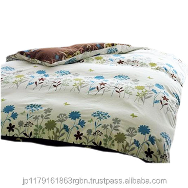 Comfortable and Fashionable comforter cover with zipper made in Japan