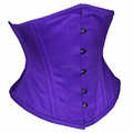 Purple Cotton Waspie Waist Training Corsets With Double Steelboned Supplier