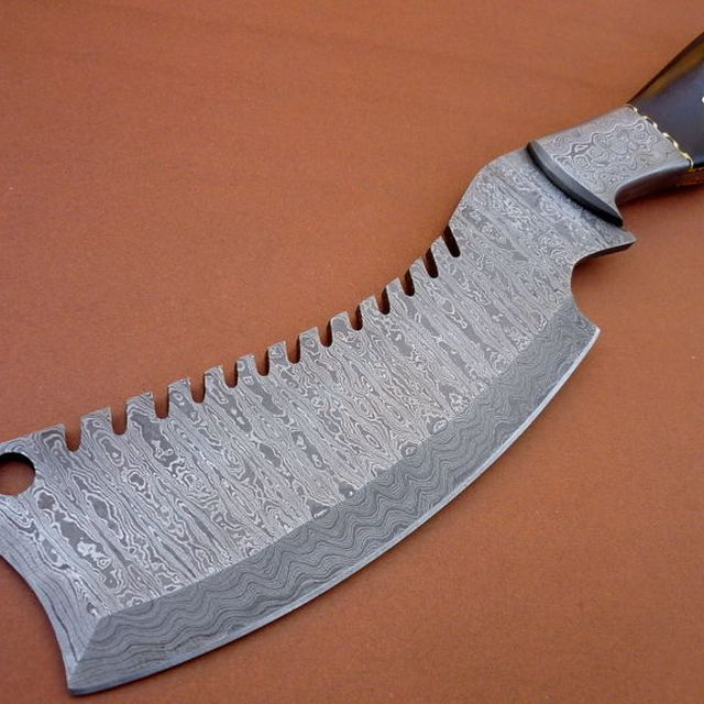 Damascus steel hinting chopper chef knife