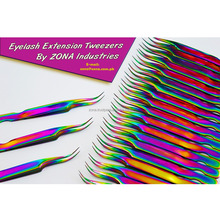 Double Shaded Professional Eyelash Extension Tweezers / Get Sandblasted & Mirror Polished Tweezers From Zona Pakistan
