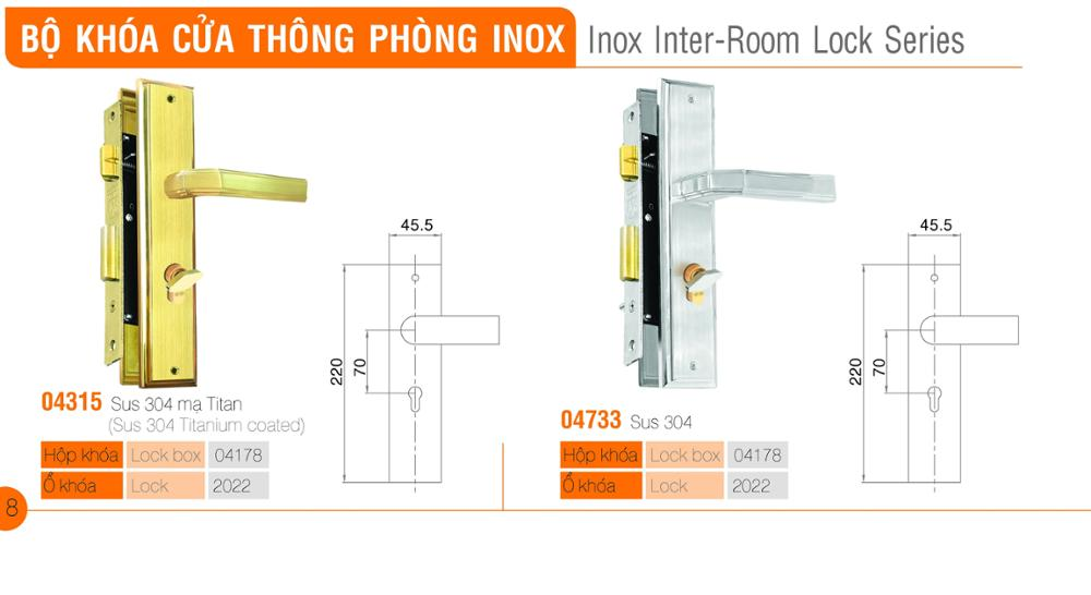 Inox Inter-Room Lock Series