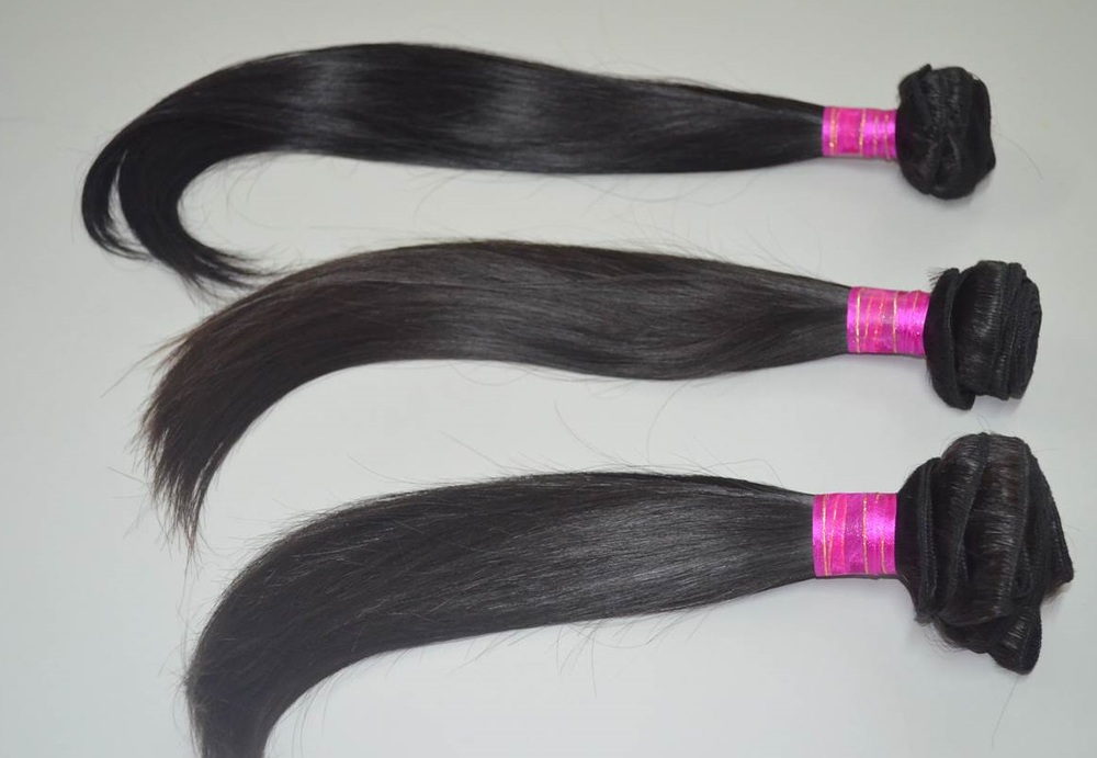 Gorgeous soft straight machine weft hair extension